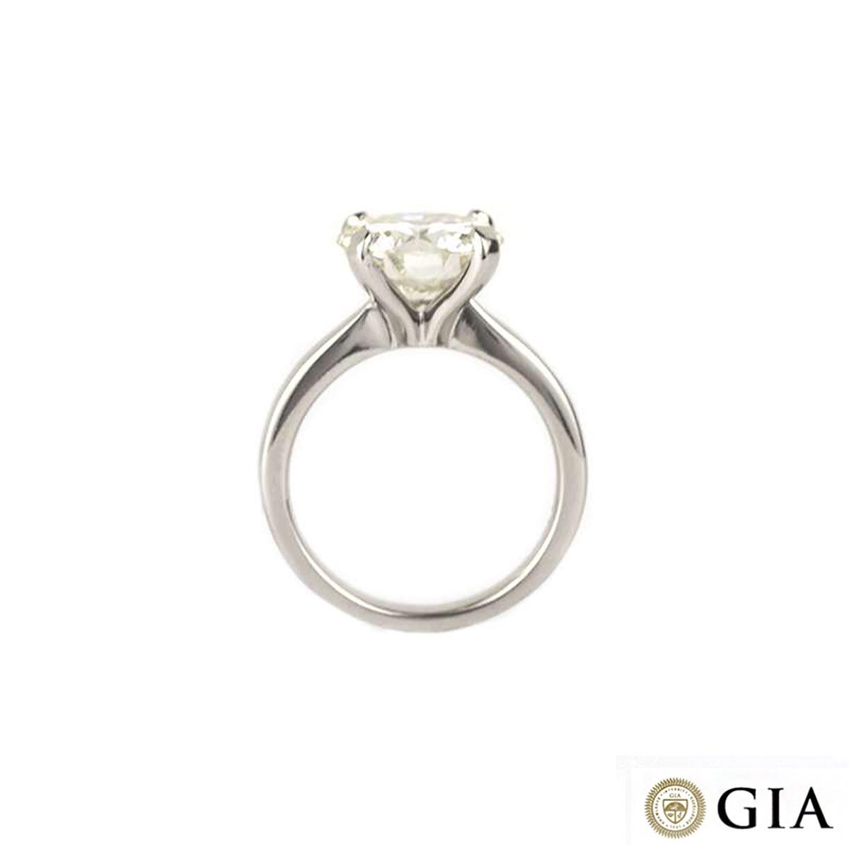 Platinum Diamond Ring 4.13ct L/VVS2
